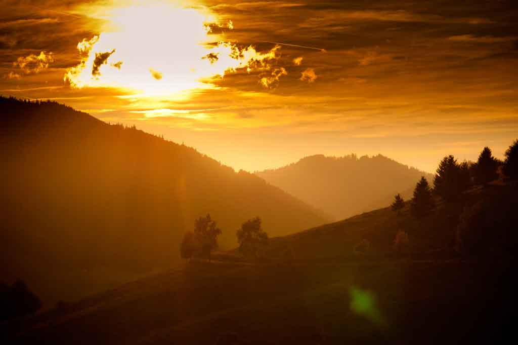 Sonnenuntergang Bernau