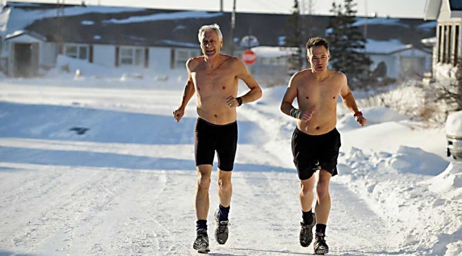 Polar Bear Marathon in Churchill bei minus 41 Grad Windchill