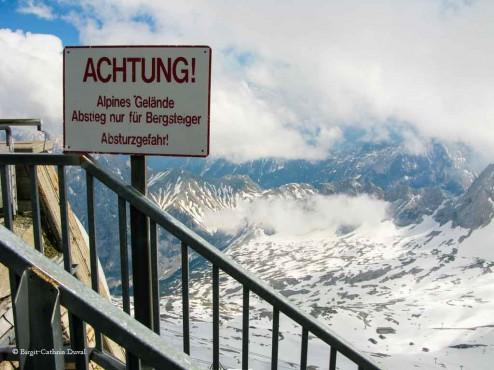 Absturzgefahr Zugspitze