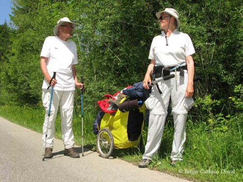 Leo und Mel Graafsma aus Holland auf dem Weg nach Rom