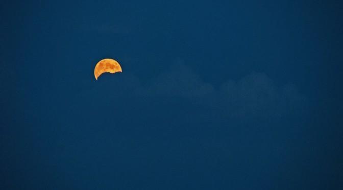 Voll der Mond – angeknabbert