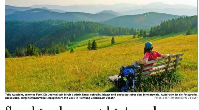 Badische Zeitung berichtet über den Schwarzwald-Podcast