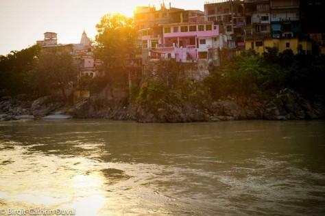 Sonnenuntergang am Ganges in Rhisikesh, Fuji X-Pro 1