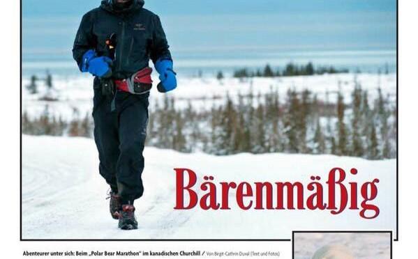 Polar Bear Marathon im Magazin der Badischen Zeitung
