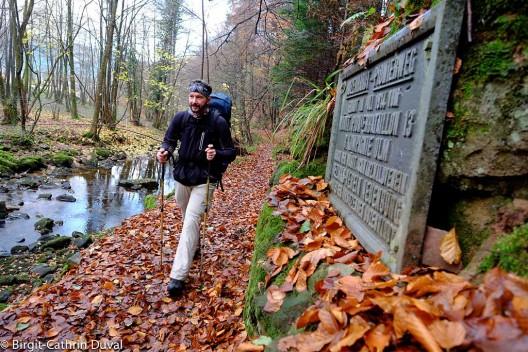 Gedenkstein des Bozenhardt-Pionierweges