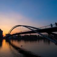Dreiländerbrücke im Abendlicht