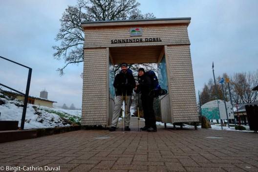 Am Sonnentor Dobel beginnt die 2. Etappe des Westwegs nach Forbach