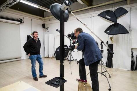 Wolfgang Armbruster beim Shooting im Studio