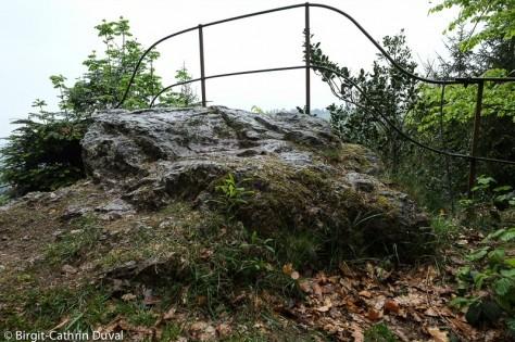 Von diesem Felsen sprang der Teufel in die Tiefe
