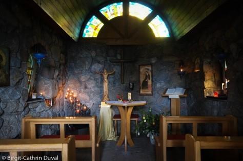 Blick in die Portiunkula-Kapelle auf dem Abtsberg