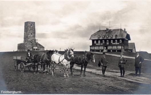 So sah es 1913 auf dem Feldberg aus
