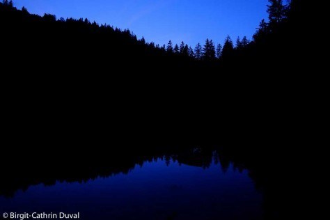 Der Wilde See im Nationalpark in der Dämmerung