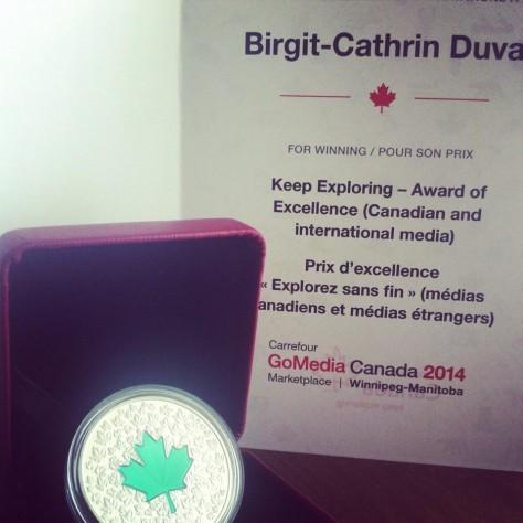 Meine Auszeichnung - ein kanadischer Silberdollar in limitierter Auflage