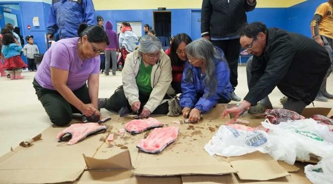 Eiskaltes Essen: Festmahl mit Fisch