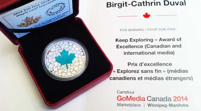 Keep Exploring Canada – Go Media Award 2014 für Birgit-Cathrin Duval