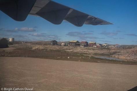 Landung auf der Schotterpiste von Repulse Bay