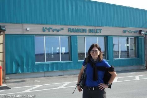 Ankunft in Rankin Inlet, Nunavut
