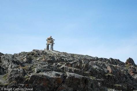 Wahrzeichen von Rankin Inlet: Der fünf Meter hohe Town Inukshuk