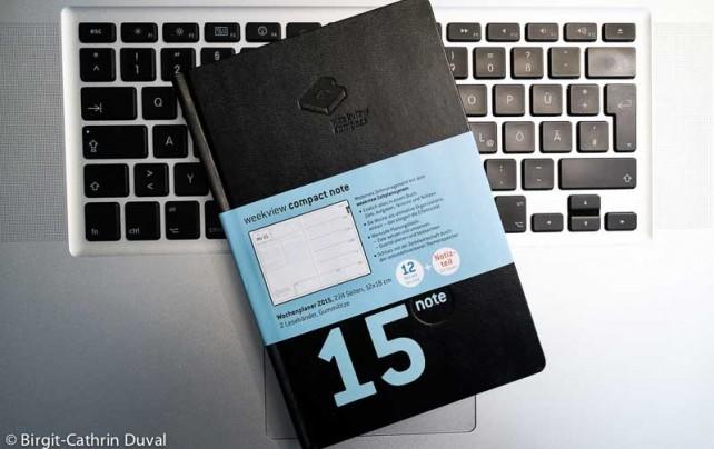 Handliches Format und stylische Aufmachung: Der Weekview compact note