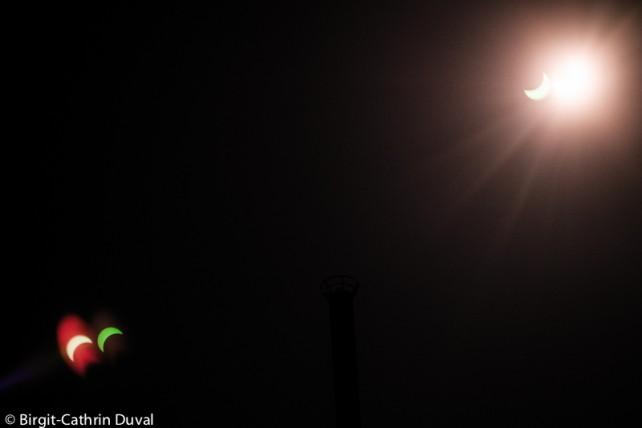 Sonnenfinsternis in dreifacher Ausführung