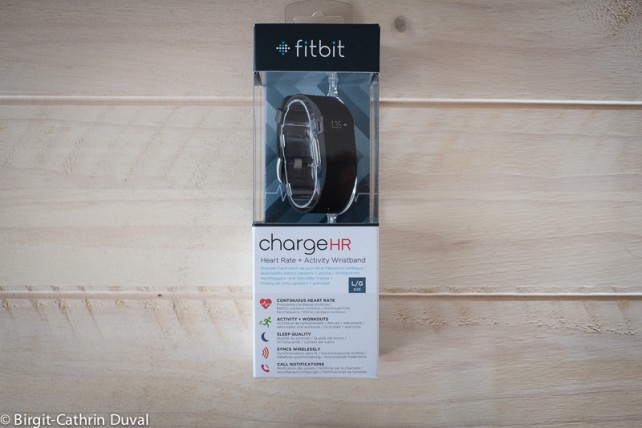 Der fitbit charge HR in seiner Verpackung