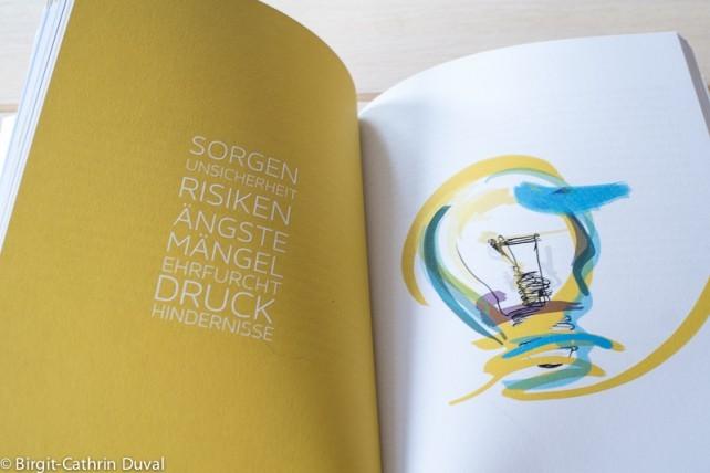 Beim Buch wurde Wert auf klares Design und Illustrationen gelegt
