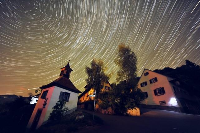 Star-Trails Aufnahme von Achim Schaller