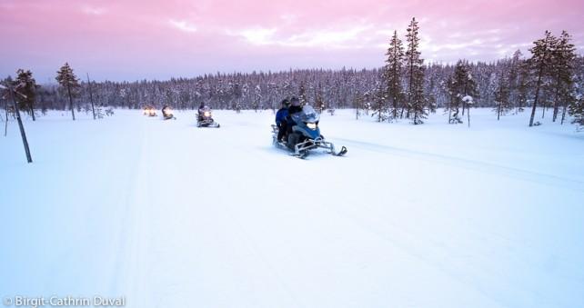 Exkursion mit dem Schneemobil
