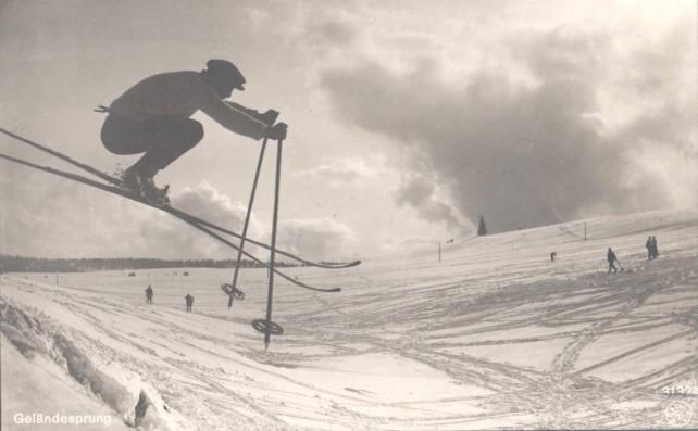 Slg Franz 06 - Skisprung - © Sammlung Franz – Kreisarchiv Breisgau Hochschwarzwald