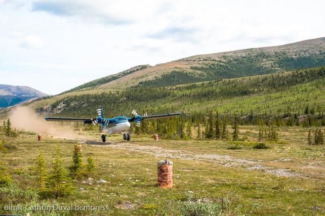 Abenteuer pur: Landung im Sheep Creek Base Camp