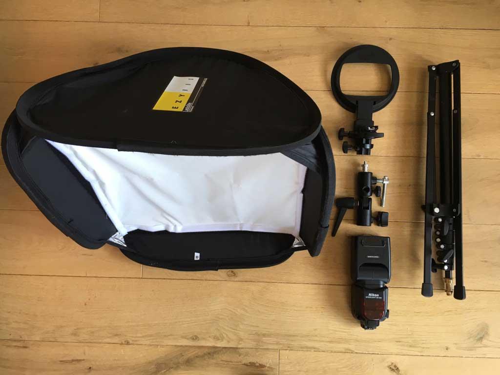 Meine Ausrüstung für den Fotoauftrag im Jägerhaus