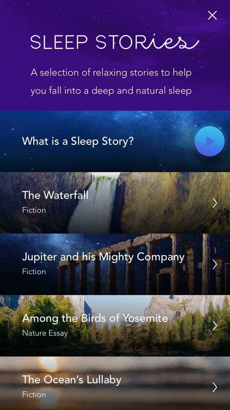 Die Sleep Stories helfen wunderbar beim Abschalten und Einschlafen