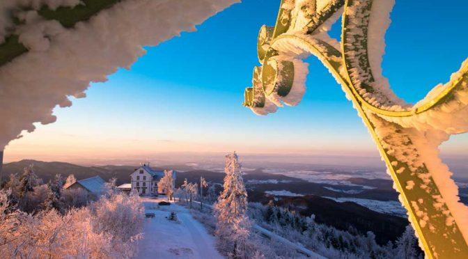 Winterwanderung zum Sonnenaufgang auf den Hochblauen